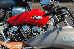 Indian Motorcycle demos during the 75th Annual Sturgis Black Hills Motorcycle Rally.  SD, USA.  August 6, 2015.  Photography ©2015 Michael Lichter.
