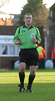 Photo: Dave Linney.<br />Hereford United v Walsall. Coca Cola League 2. 18/11/2006. Match referee  P Melin