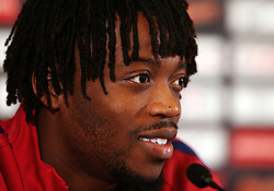 Nathaniel Chalobah of England speaks during a press conference  - Mandatory by-line: Matt McNulty/JMP - 29/08/2017 - FOOTBALL - St George's Park National Football Centre - Burton-upon-Trent, England - England Training and Press Conference