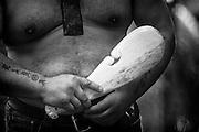 Roger Te Tai reacts to a postponement to his scheduled tā moko tattoo, 2009