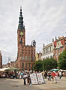 Gdańsk; 2008-06-22. Stare Miasto w Gdańsku. Ratusz.