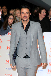 at the National Television Awards at the 02 Arena in London, UK. 24 Jan 2018 Pictured: Peter Andre. Photo credit: MEGA TheMegaAgency.com +1 888 505 6342