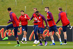 England players warm up - Mandatory byline: Matt McNulty/JMP - 22/03/2016 - FOOTBALL - St George's Park - Burton Upon Trent, England - Germany v England - International Friendly - England Training and Press Conference