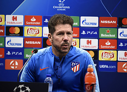 December 10, 2018 - Bruges, Belgique - BRUGGE, DECEMBER 10 : Diego Simeone head coach Atletico Madrid pictured during press conference the day before the UEFA Champions League group A match between Club Brugge KV and Atletico Madrid on December 10, 2018 in Brugge, 10/12/2018 (Credit Image: © Panoramic via ZUMA Press)