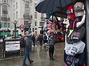 Souvenir shop selling Harry and Megan memorabilia,, London, 30 April 2018