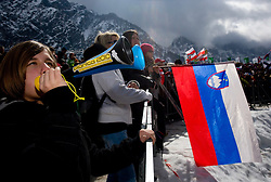 Slovenian fans  during Flying Hill Team Second Round at 4th day of FIS Ski Flying World Championships Planica 2010, on March 21, 2010, Planica, Slovenia.  (Photo by Vid Ponikvar / Sportida)