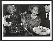 Iris Love and Brooke Astor with Just Desserts and Dolly Astor at a Dachund party. Barbetta. Manhattan. 12 February 1990Exhibition in a Box