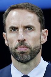 coach Gareth Southgate of England during the 2018 FIFA World Cup Russia Semi Final match between Croatia and England at the Luzhniki Stadium on July 01, 2018 in Moscow, Russia