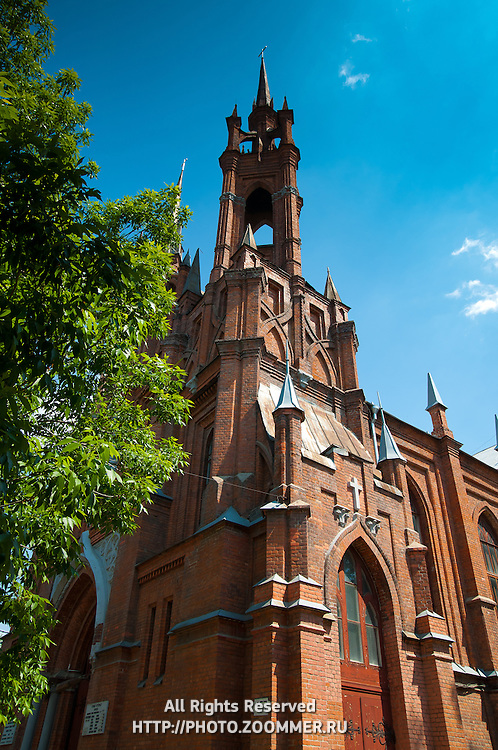 Roman Catholic gothic church of the Sacred Heart of Jesus in Samara, Russia