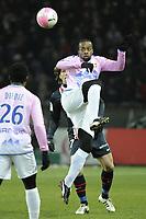 FOOTBALL - FRENCH CHAMPIONSHIP 2011/2012 - L1 - PARIS SAINT GERMAIN v EVIAN TG - 4/02/2012 - PHOTO JEAN MARIE HERVIO / REGAMEDIA / DPPI - SIDNEY GOVOU (ETG)
