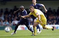 Photo: Olly Greenwood.<br />Southend United v Sheffield Wednesday. Coca Cola Championship. 09/09/2006. Southend's Jamal Campbell-Ryce and Sheffield's Tom Spurr