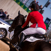 Marilyn Little (USA) and RF Scandalous during the show jumping phase of the 2018 Land Rover Kentucky Three-Day Event in Lexington, Kentucky