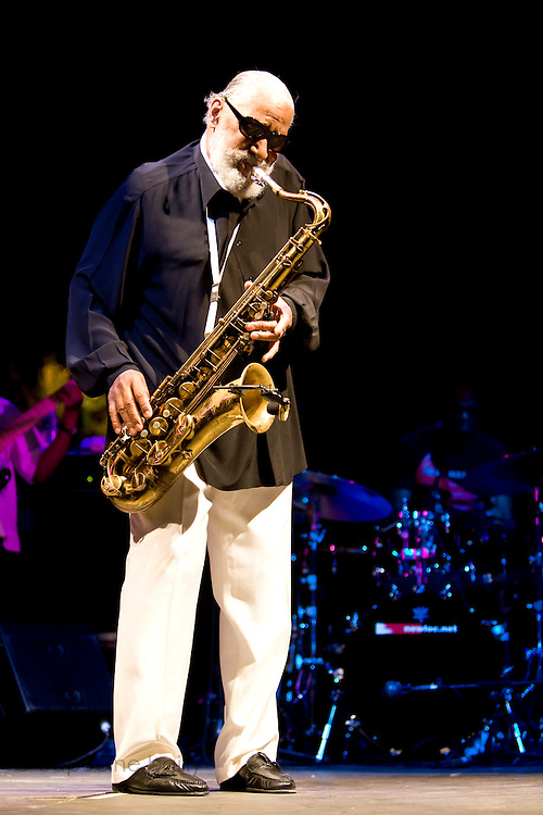 Nice (Cimiez), France. July 25th 2009. .Sonny Rollins performs at the Nice Jazz Festival.