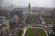 London, UK. Tuesday 19th March 2013. Hundreds of people from the IF Campaign dressed as George Osborne spell out a giant 'IF' in Westminster to remind the Chancellor that tomorrow's Budget belongs to all of us and we want to see him uphold aid promises and end tax dodging. The Enough Food for Everyone Campaign want our leaders to act on four big issues that mean so many people do not get enough food: Aid, Tax, Land and Transparency. http://enoughfoodif.org/