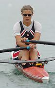 FISA World Cup Rowing Munich Germany..27/05/2004..Thursday morning opening heats...USA W1X Dana Peirce.. [Mandatory Credit: Peter Spurrier: Intersport Images].