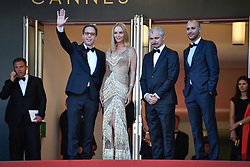 Reda Kateb, Uma Thurman,Karel Och and Mohamed Diab arriving for the 70th Cannes Film Festival closing ceremony on May 28, 2017 in Cannes, France. Photo by Julien Zannoni/APS-Medias/ABACAPRESS.COM