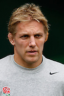 Lewis Moody of England looks on before the start of the Investec series international between England and Australia at Twickenham, London, on Saturday 13th November 2010. (Photo by Andrew Tobin/SLIK images)