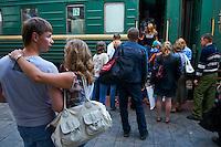 Russie, territoire de Krasnoiarsk, gare ferroviaire de Krasnoiarsk, transsiberien. // Russia, Krasnoiarsk territory, Krasnoiarsk railway station, trans-siberian.