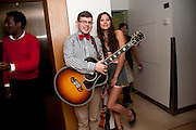 GUITARIST: CHARLIE MORTON; ( CHARLESTON ) ELIZA DOOLITTLE, The Tomodachi ( Friends) Charity Dinner hosted by Chef Nobu Matsuhisa in aid of the Japanese Tsunami Appeal. Nobu Park Lane. London. 4 May 2011. <br /> <br />  , -DO NOT ARCHIVE-© Copyright Photograph by Dafydd Jones. 248 Clapham Rd. London SW9 0PZ. Tel 0207 820 0771. www.dafjones.com.