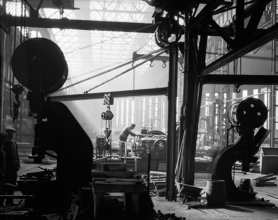 Workers and Mechanical Hammers, C.H. Jucho Steel Construction, Dortmund, 1928