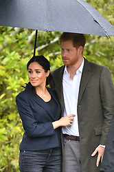 The Duke and Duchess of Sussex, during a visit to Redvale, North Shore, Auckland to dedicate a 20-hectare area of native bush to the QueenÕs Commonwealth Canopy, New Zealand.