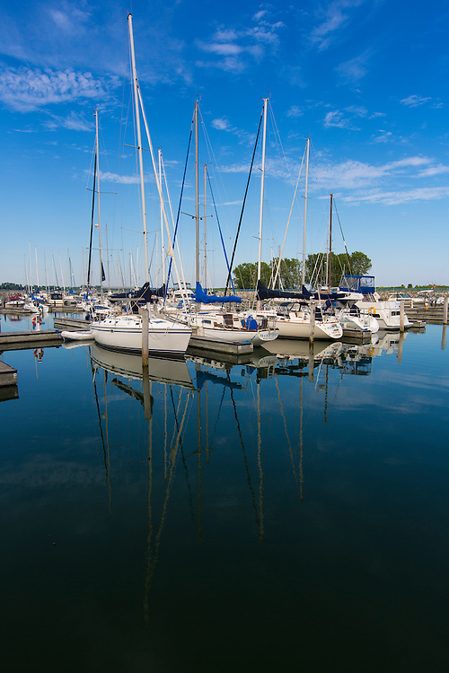 Manitowoc Marina in Manitowoc, Wisconsin.  Photo by Mike Roemer