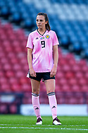 Caroline Weir (#9) of Scotland looks on ahead of taking a free-kick during the International Friendly match between Scotland Women and Jamaica Women at Hampden Park, Glasgow, United Kingdom on 28 May 2019.