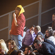 NLD/Hilversum/20160129 - Finale The Voice of Holland 2016, Fan uit het fanvak van Dave Vermeulen