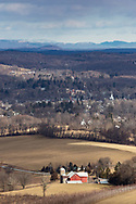 View from a hike at the  Fuller Mountain Preserve in Warwick, N.Y., on Jan. 23, 2021. The preserve is owned and managed by the Orange County Land Trust.
