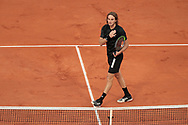 Stefano's TSITSIPAS (GRE) celebrated his victory during the Roland Garros 2020, Grand Slam tennis tournament, on October 1 st, 2020 at Roland Garros stadium in Paris, France - Photo Stephane Allaman / ProSportsImages / DPPI