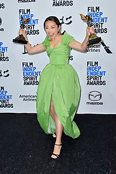 February 8, 2020, Santa Monica, Kalifornien, USA: Lulu Wang (bester Fim 'The Farewell') beim Photocall mit den Preisträgern der 35. Verleihung der Film Independent Spirit Awards 2020 im Zelt am Santa Monica Beach. Santa Monica, 08.02.2020 (Credit Image: © Future-Image via ZUMA Press)
