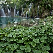 Waterfalls in Plitvice Lakes National Park, Croatia.
