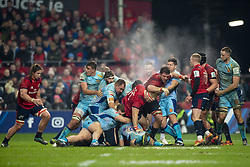 January 19, 2019 - Limerick, Ireland - Munster and Exeter players pictured in action during the Heineken Champions Cup match between Munster Rugby and Exeter Chiefs at Thomond Park in Limerick, Ireland on January 19, 2019  (Credit Image: © Andrew Surma/NurPhoto via ZUMA Press)