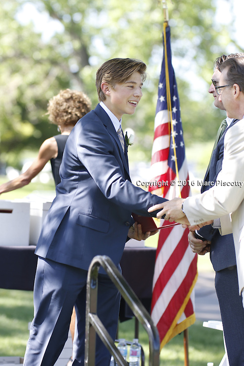 SHOT 6/2/16 9:17:15 AM - Colorado Academy Class of 2016 Commencement ceremonies at the Denver, Co. private school. The school graduated 88 seniors this year and the event capped a week filled with awards, tributes, and celebrations for the outgoing senior class. (Photo by Marc Piscotty / © 2016)