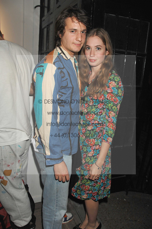 XAN MORGAN and ANOUSKA GERHAUSER daughter of Tamara Beckwith at a party to celebrate the opening of a new art gallery, 20 Hoxton Square, Hoxton Square, London on 27th April 2007.<br /><br />NON EXCLUSIVE - WORLD RIGHTS