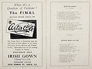 All Ireland Senior Hurling Championship Final,.Programme,.02.09.1951, 09.02.1951, 2nd September 1951,.Wexford 3-9, Tipperary 7-7,.Minor Cork v Galway, .Senior Wexford v Tipperary, .Croke Park, ..Advertisements, Certistyle Irish Gown, ..Poems, Slievenamon, Fainne Geal An Lae,