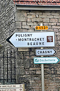 road sign savigny-les-beaune cote de beaune burgundy france