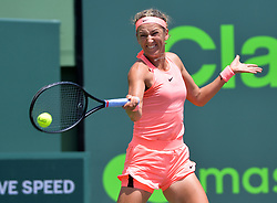 March 29, 2018 - Key Biscayne, Florida, United States Of America - KEY BISCAYNE, FL - MARCH 29: Viktoria Azarenka  during day 11 of the Miami Open Presented by Itau at Crandon Park Tennis Center on March 29, 2018 in Key Biscayne, Florida. ...People:  Viktoria Azarenka. (Credit Image: © SMG via ZUMA Wire)