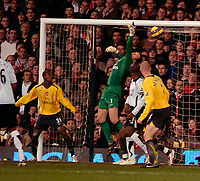 Photo: Ed Godden.<br /> Fulham v Arsenal. The Barclays Premiership. 29/11/2006.<br /> Brian McBride (out of picture) opens the scoring for Fulham.