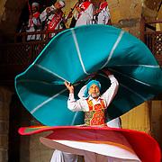 Arab sufi dancer (whirling dervish) costume, Cairo, Egypt (January 2008)