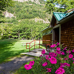 A scene from the campground in Crawford Notch State Park in New Hampshire's White Mountains.