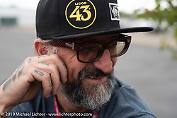 Chrystiano Miranda of Brazil kept team Vino no. 13 running steady as the lead mechanic for the Motorcycle Cannonball coast to coast vintage run. Stage 13 (254 miles) Kalispell, MT to Spokane, WA. Friday September 21, 2018. Photography ©2018 Michael Lichter.