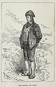 Hans Bjelke, the Guide from the book ' A journey to the centre of the earth ' by Jules Verne (1828-1905) Published in New York by Scribner, Armstrong & co 1874