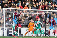 Scunthorpe United forward Kyle Wootton (29) comes on as a substitute and almost scores with his first touch, a header during the EFL Sky Bet League 1 match between Scunthorpe United and Plymouth Argyle at Glanford Park, Scunthorpe, England on 27 October 2018. Pic Mick Atkins