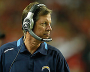 ATLANTA - AUGUST 29:  Head coach Norv Turner of the San Diego Chargers watches the action on the field during the game against the Atlanta Falcons at the Georgia Dome on August 29, 2009 in Atlanta, Georgia.  The Falcons beat the Chargers 27-24.  (Photo by Mike Zarrilli/Getty Images)