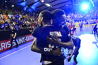 Joie Jeffrey M'TIMA / Luc ABALO - 04.06.2015 - Tremblay en France / Paris Saint Germain - 26eme journee de Division 1 -Beauvais<br />