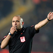 Referee's Deniz COBAN during their Turkey Cup Group A matchday 3 soccer match Galatasaray between Beypazari Sekersporat the AliSamiYen stadium in Istanbul Turkey on Tuesday 11 January 2011. Sports fans, knee collapsed and the world of European giants 'hell' as a name from the Ali Sami Yen stadium to play matches with Turkey Sekerspor Beypazari Cup farewell. Sports, 47-year sanctuary 'goodbye,' he says. Photo by TURKPIX
