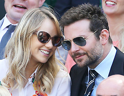 July 4, 2014 - London, England, United Kingdom - Model SUKI WATERHOUSE and actor BRADLEY COOPER  in the Royal box on day eleven of the Wimbledon Tennis Championships. (Credit Image: © Stephen Lock/i-Images/ZUMA Wire)