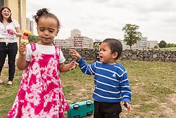 Preschool outing to Lordship Recreation Ground, London Borough of Haringey, North London UK