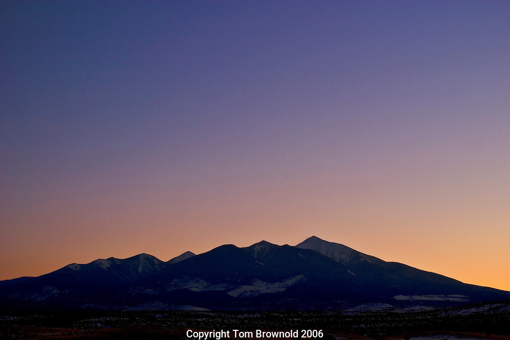 silhouette of san francisco peaks